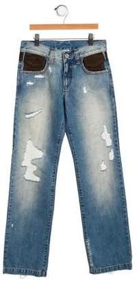 Dolce & Gabbana Girls' Distressed Jeans w/ Tags