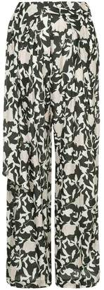 Christian Wijnants floral palazzo trousers