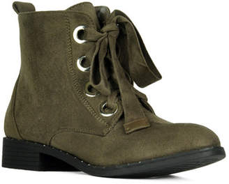Refresh Betsy Faux Suede Lace-Up Ankle Boot