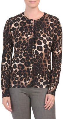 Leopard Print Button Up Cardigan
