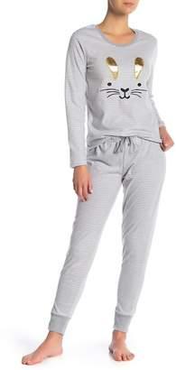 Couture PJ Bunny Stripe Print Pj Set