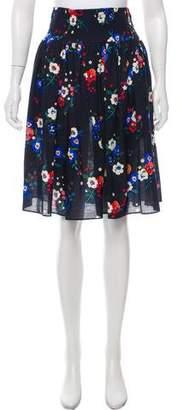 Tory Burch Floral Print Knee-Length Skirt