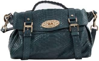 Mulberry Alexa Green Leather Handbag