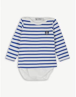 Petit Bateau Striped sailor cotton bodysuit 6-36 months