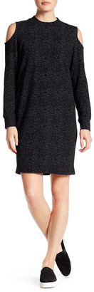 Bobeau Long Sleeve Cold Shoulder Back Zip Dress $62 thestylecure.com