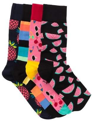 Happy Socks Assorted Crew Socks - Pack of 4