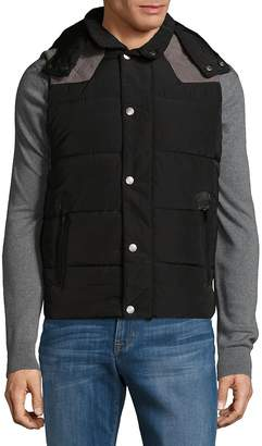 American Stitch Men's Suede Patch Filled Jacket