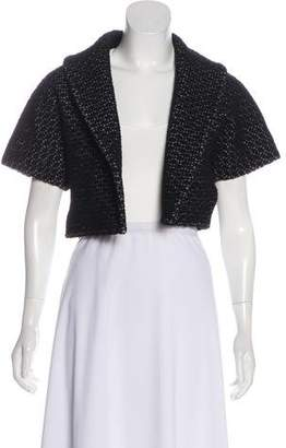 Alaia Wool-Blend Cropped Cardigan