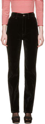 Marc Jacobs Black Velvet High-Rise Disco Trousers