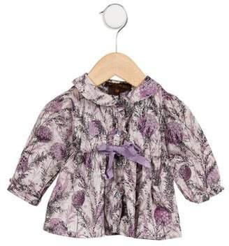 Leon Fleurisse Girls' Floral Long Sleeve Dress
