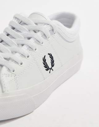 Fred Perry Kendrick Leather Sneaker With Rib Detail
