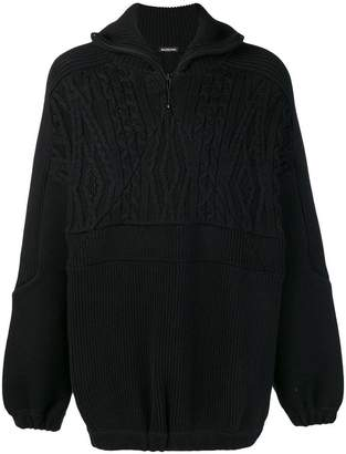 Balenciaga mixed knit jumper