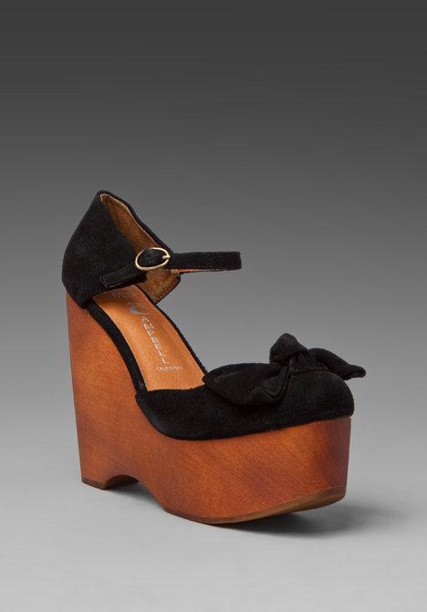 Jeffrey Campbell Daisy D Wood Platform Sandal