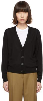 Burberry Black Vintage Check Elbow Patch Dornoch Cardigan