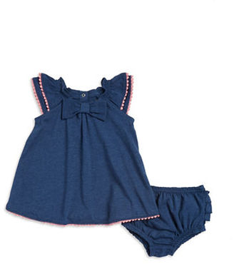 Kate Spade New York Baby Ruffle Sleeved Top with Matching Bloomers $48 thestylecure.com
