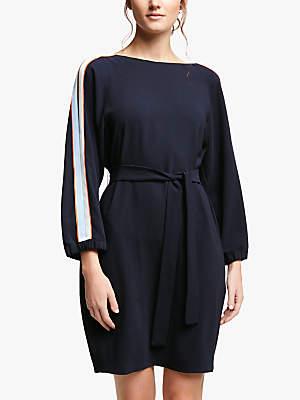 Marella Sguizzo Stripe Sleeve Dress, Midnight Blue