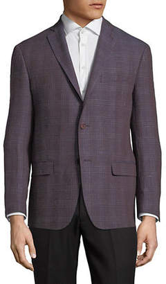 Michael Kors Plaid Slim-Fit Wool-Blend Sport Jacket