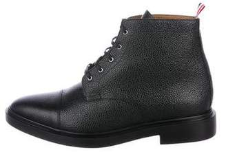 Thom Browne Pebble Leather Ankle Boots w/ Tags