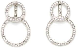 Vince Camuto Silvertone Double-circle Earrings