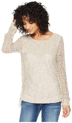 BB Dakota Judd Two-Tone Lace-Up Sweater Women's Sweater