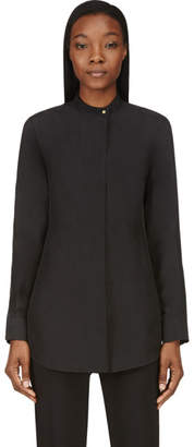 Calvin Klein Collection Black Washed Silk Umiko Blouse