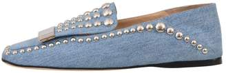 Sergio Rossi Flat Denim Slipper & Loafer