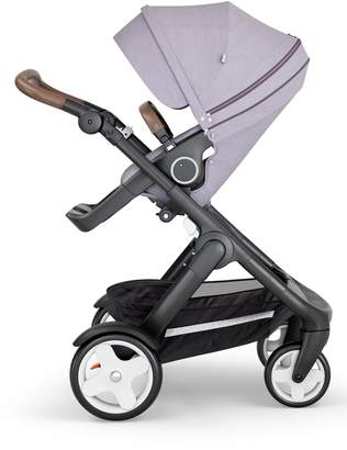 Stokke Trailz(TM) All Terrain Black Chassis/Brown Faux Leather Handle Stroller