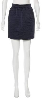 Prada Embossed Mini Skirt