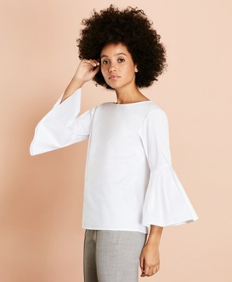 Brooks Brothers Poplin Bell-Sleeve Blouse