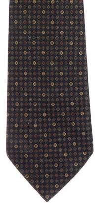 Luciano Barbera Ornate Print Silk Tie