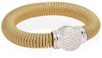 Alor Women's Diamond, 18K Yellow Gold & Stainless Steel Coil Bracelet