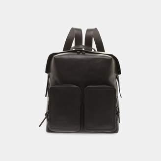 Jimmy Choo Lennox Zipped Shoulder Strap Leather Backpack