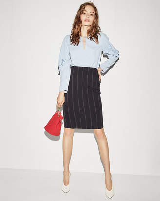 Express High Waisted Pinstripe Pencil Skirt