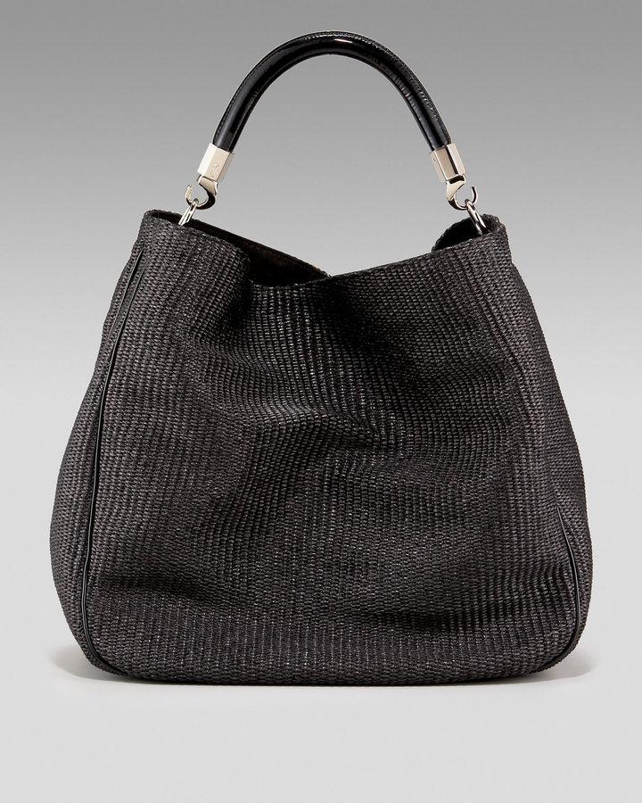 Yves Saint Laurent Raffia Hobo Bag