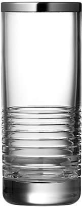 """Vera Wang Grosgrain Platinum 8"""" Vase"""