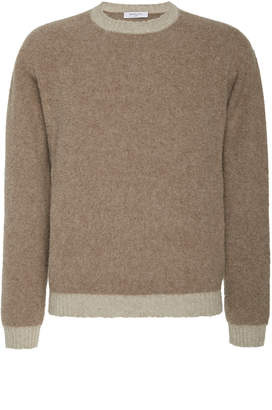 Boglioli Brushed Wool Bi Color Sweater