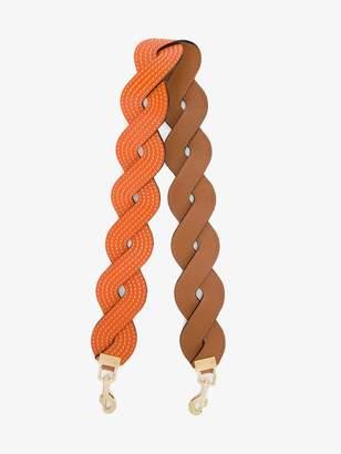 Loewe Orange Twisted wave leather bag strap