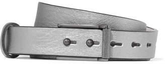 Rag & Bone Wren Metallic Textured-leather Belt - Gunmetal