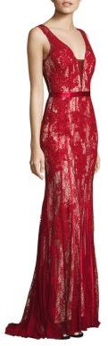 Basix Black Label Sleeveless Lace Gown $390 thestylecure.com