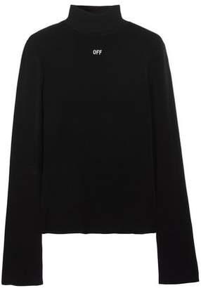 Off-Whitetm Angel Stretch-Knit Turtleneck Sweater