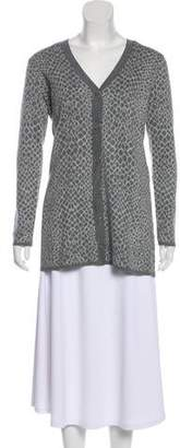 Isaac Mizrahi Patterned Button-Up Cardigan w/ Tags
