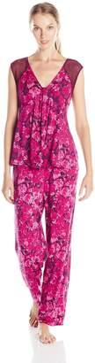 Midnight by Carole Hochman Women's Pajama with Lace