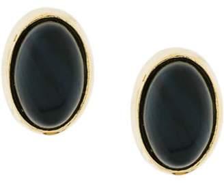 Wouters & Hendrix Gold 18kt gold black Tiger Eye earrings