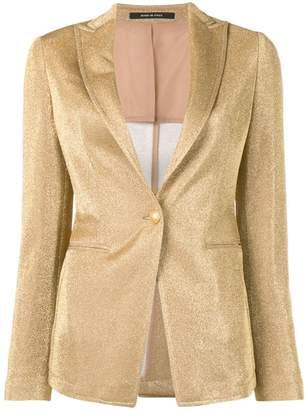 Tagliatore glitter metallic blazer jacket