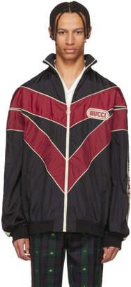 Gucci Red & Black Vintage Nylon Track Jacket