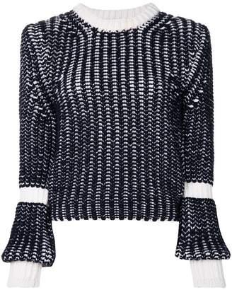 Thom Browne Bi-Colored Chunky Merino Pullover