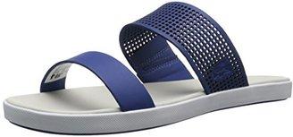 Lacoste Women's Natoy Slide Flat Sandal $30 thestylecure.com