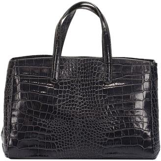 Italian Leather Structured Satchel