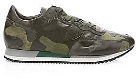 Philippe Model Men's Leather Camo Runners