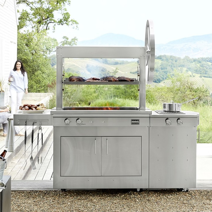 Kalamazoo Gaucho Wood-Fired Freestanding Grill with Side Burner